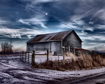 Rustic Barn Photography, Winter Barn Photography, Barn Photography, Barn Photo, Farm Photography, Farm Photo, Barn Print, Old Barn Photo,