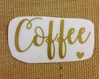Coffee vinyl decal