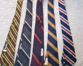 a striped tie medley . . . all silk . . . all vintage . . . all really nice