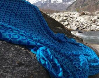 Beautiful 100% pure crepe silk scarf, neck scarf