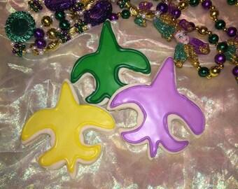 Mardi Gras Fleur de Lis Cookies