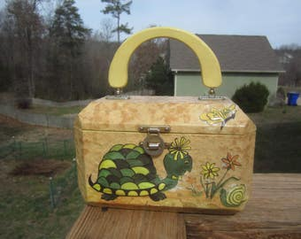 Mom's Decoupage Purse - Turtle and Snail