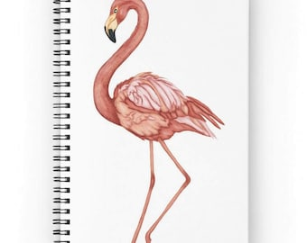 Spiral notebook for journal sketch zentangle - Flamingo