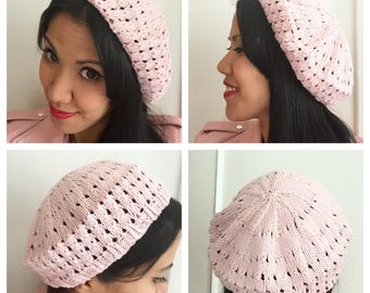 Made to order vintage inspired SUMMER BERET tutorial in cottonblend