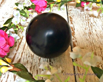 Jet Sphere – 50mm – Russia Crystal Healing, Chakra, Reiki, Feng Shui, Space Clearing