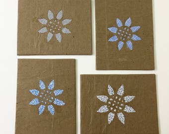 Rustic Blank Cards Handmade Greeting Cards Blank Cards With Envelopes Blank Note Cards All Occasion Cards Blank Card Set repurposed paper