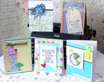 Greeting Cards- 5 assorted handmade greeting cards