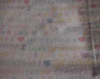 6 Vintage Flannel I love Grandma