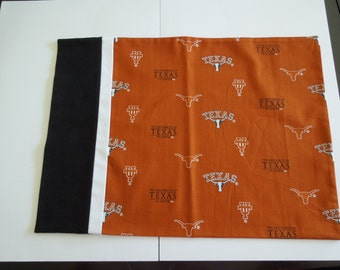 University of Texas  Pillowcase,  Texas Longhorns   .  100% Cotton,  UT bedding,   pillowcases
