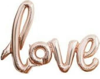Rose Gold 'LOVE' balloon