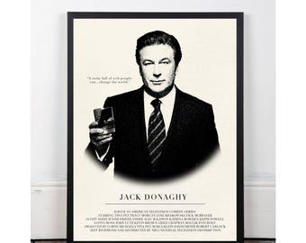 Jack Donaghy, 30 Rock, INSTANT DOWNLOAD, sitcom, Printable wall art decor poster, pop art, funny art, Alec Baldwin, Liz Lemon, Tina Fey