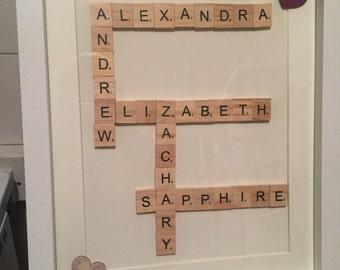 Large Scrabble Tile Frame