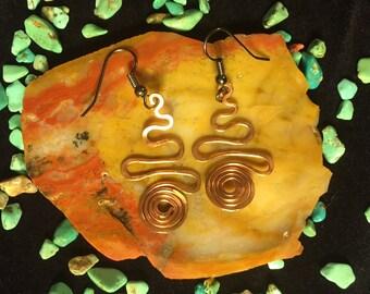 Custom Copper Earrings