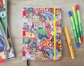 Marvel Comics handmade A5 dot grid notebook for Bullet Journal