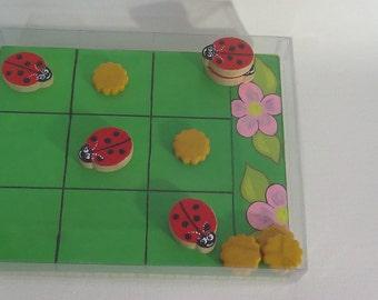 game of Tic Tac Toe ladybugs
