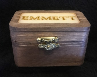Mammary Box. A keepsake box. Personalized with your breastmilk and babies name.