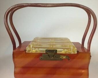 Handbag in original Bakelite Art Deco 1930 's Bakelite-(no plastic)-unique and Rare