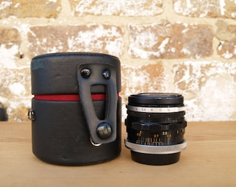 Canon 50mm Lens with Felt-Lined Leather Case