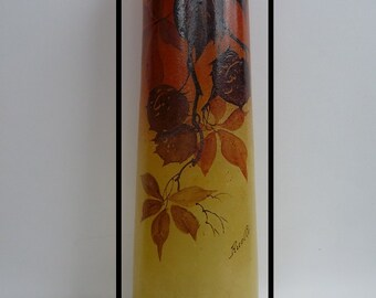 Alley - painted vase - vintage art deco