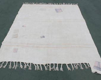 old hemp rug,free ship rug,7'0''x5'9''vintage decorative hemp turkish style,215x180 home living,floor rug