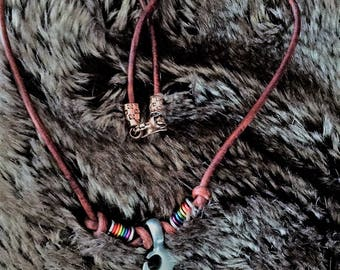 Gay Pride Tribal Necklace, Gay Pride Necklace, Custom Gay Pride Jewelry, Pride Jewelry, Gay Pride Jewelry, Pride Necklace