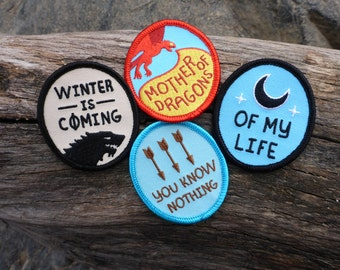 Thrones Patch Set - Game Of Thrones Patch - Winter Is Coming Patch - Stark Patch - Targaryen Patch - Dothraki Patch - Wildling Patch
