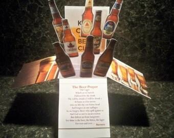beer prayer pop up card