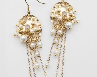 Pearl Scattering Earrings