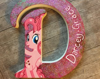 My Little Pony Inspired Painted Wooden Letter
