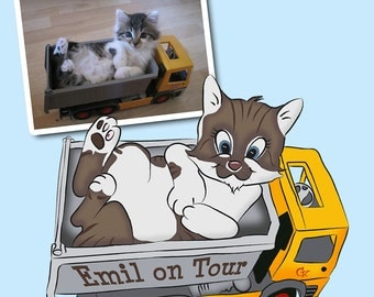 Digital animal cartoon of your pet - fee goes to a good cause