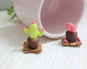 Handmade polymer clay decorative succulent- set of two succulents- made by Claycious