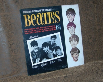 The BEATLES/ Introducing The BEATLES/ V J Records/ Early Mono 1964 Version/ Songs and Pictures Title Cover