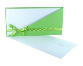 Invitation card + card white, handmade card
