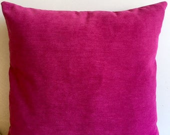 Fushia Chenille Pillow Cover 18x18 Pillow Chenille Fushia Pillow Designer Pillow Chenille Pillows Chenille Cushion Fushia Sofa Pillow Cover