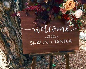 Custom Hand Painted Wedding Signs