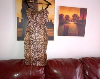 D&G animal print unlined elastic dress UK size 8-10 IT42