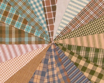 Soft Plaids Ragged Homespun Quilt Kit