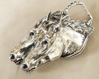 Sterling Silver Horse Buckle - Sterling Silver Horse Head - Sterling Silver Horse - Vintage Sterling Horse Buckle - Roca Fine and Dandy