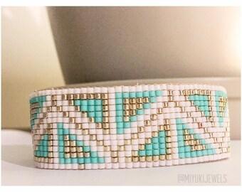 Bracelet beads Miyuki shapes geometric