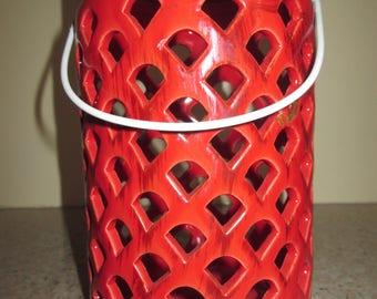 Red Ceramic Lantern