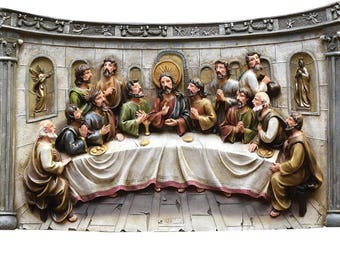 """20"""" The Last Supper Inspirational Religious Christmas Wall Decoration - ITEM# 32260933"""