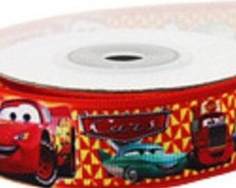 1 x Metre, RACING CARS, 7/8, 22mm, Grosgrain, Ribbon, Sewing, Craft