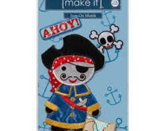 1 x LARGE PIRATE, PATCH, Iron-On, Beutron, Decal, Sewing, Craft