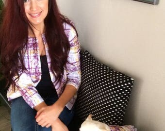 Beautiful Purple Shimmer Small Breed Dog Dress, Free Shipping