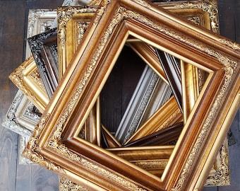 Traditional compo ornate wood frame, wood picture frame, wedding frame, portrait frame, custom picture frame, custom frame, bronze frame