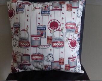 "18"" × 18"" shabby chic cushion cover."
