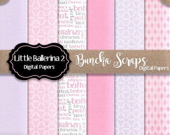 Digital Background Papers Little Ballerina Part 2