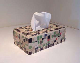 Box in Mosaic for handkerchiefs.