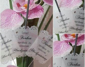 12 sparklers + label, wedding, let flying sparks... Wedding Dance