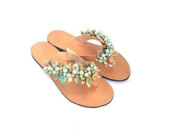 "Handmade Sandals ""Naiads""-Free Shipping"